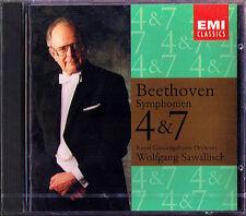 Wolfgang Sawallisch: Beethoven Symphony No. 4 & 7 Concertgebouw CD 1992 Filarmonica