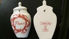 Colonial Williamsburg Royal Goedewaagen Holland Delft Peace NEW Ornament Red