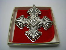 STERLING SILVER CHRISTMAS ORNAMENT MEDIEVAL CROSS PENDANT by Reed & Barton c1973