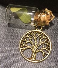 Rare Engelmann Oak Tree Leaf Lucky Charm Something Old Something Gold Bride