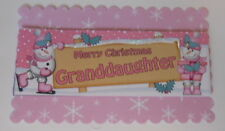 PACK 2  MERRY CHRISMAS GRANDDAUGHTER TOPPER EMBELLISHMENTS  FOR CARDS AND CRAFTS