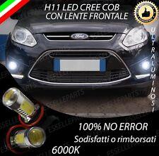COPPIA LAMPADE FENDINEBBIA H11 LED CREE COB CANBUS PER FORD C-MAX MK2 6000K