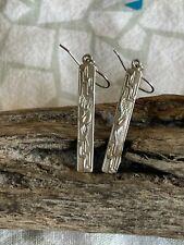 Sterling Silver Hieroglyph Dangle Earrings