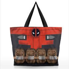 Women Men's superhero Handbags Shopping bag Deadpool Batman Fashion Shoulder Bag