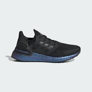 Adidas ULTRABOOST 20 Kid's Sneakers Shoes Black / Boost Blue Violet US Size 6