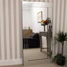 Extra Large Wall Mirror Full Length Silver All Glass 5Ft8 X 2Ft9 174cm X 85cm
