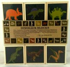 Uncle Goose Dinosaur Wooden Blocks Set of 9 Educational Rare Ages 2+