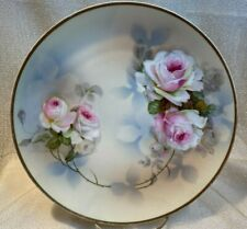 "Psag Bavaria Hand Painted Roses Plate - Artist Signed ""Ragouse"" - Numbered 34"
