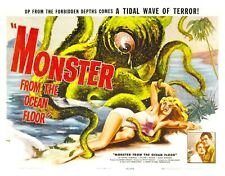 monster from ocean floor horror sci-fi movie poster big posters for wall