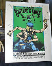 1994 Signed 1st Edition Derek Hess Shellac & Mule Poster Old Miami (Detroit, MI)