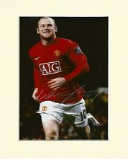 WAYNE ROONEY MANCHESTER UNITED ENGLAND PP 10X8 MOUNTED SIGNED AUTOGRAPH PHOTO