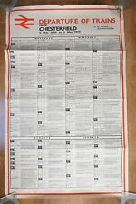 May 1969 Chesterfield BR Railway Original Timetable Poster