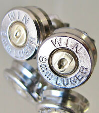 9MM Luger WINCHESTER Bullet Earrings Gold Silver Nickel Belly Ring Available NEW