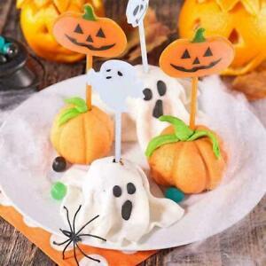 10pcs Toothpicks Fruit Cocktail Sticks Party Sticks Halloween E7G4 Pumpkin Q1X4