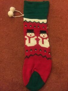 Knitted Christmas Stocking 30 Cm