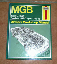 MGB Haynes Workshop Manual Manual de Taller / Reparación
