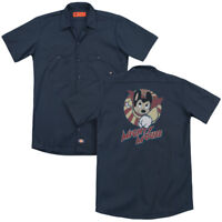 Mighty Mouse THE ONE THE ONLY Flying Vintage Style Dickies Work Shirt All Sizes