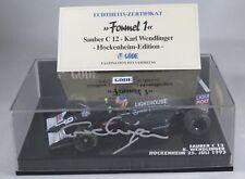 SAUBER ILMOR C12 #29 Karl Wendlinger 1993 GERMAN GP signed box MINICHAMPS 1:43