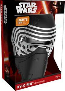 Brand New Genuine DISNEY STAR WARS KYLO REN LED 3D FX Deco Night Light Wall Lamp