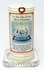 To the one I Love Christmas present personalised Gift candle keepsake  Cellini 8
