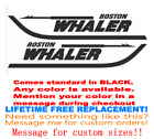 """PAIR OF 5""""X28"""" BOSTON WHALER BOAT HULL DECALS. MARINE GRADE YOUR COLOR CHOICE 33"""