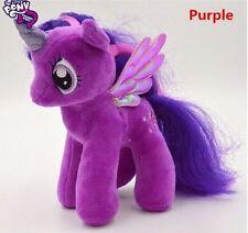 "Brand New 18CM 7"" My Little Pony Purple Plush Doll Toy Teddy Unicorn Horse GIFT"