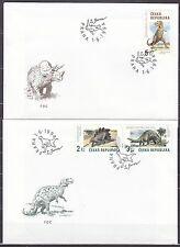 CZECH REPUBLIK  1994 FDC SC# 2922 - 2924  The Dinosaurs