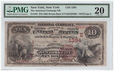 $10 1882 Brown Back FR#487 New York CH#1394 PMG 20