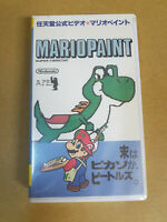 Mario Paint Official Video Guide VHS Nintendo Super Famicom Japan NEW