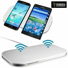 Duracell Samsung Dual Wireless Charging Pad For Samsung Galaxy S6, S7, Note 5