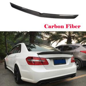 Rear Trunk Spoiler for Mercedes Benz E-Class W212 Sedan 2010-2015 Carbon Fiber