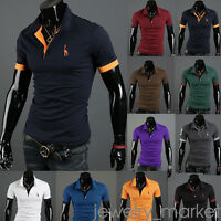 Mode Homme T-shirt Hauts À Manches Courtes Sport Golf Casual Slim Fit Tops