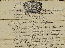 1720 Acte notarié Vernon Eure BELGUISE et FESTU contre BELGUISE usurpation