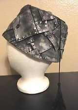 Steam punk Hat, - Silver FEZ - Handmade, Metal Look, Costume piece