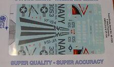 Microscale Decal 1:48 Scale #MS48-1109 / F-4 N/S Phantoms: VFMA-212 & VF-154