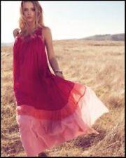 Monsoon Pink Beaded Neck Maxi Dress Size M Lf087 II 21