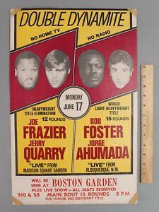 Authentic 1974 Double Dynamite Joe Frazier vs Quarry Boston Garden Boxing Poster