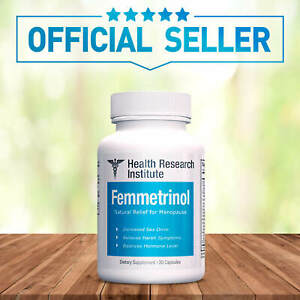 Femmetrinol Pills - 1 Bottle - Menopausal Symptom Relief  - 100% Natural
