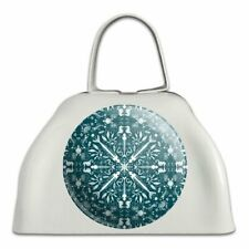 Fish Bones and Plastic Sea Ocean Pattern White Metal Cowbell Cow Bell Instrument
