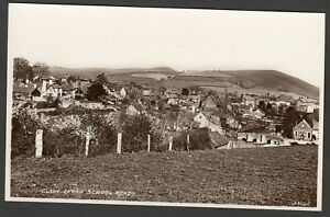Postcard Clun Shropshire view of houses etc from School Road RP