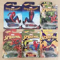 HOT WHEELS MARVEL SPIDER MAN HOMECOMING CHOOSE YOUR MODEL CAR 1:64 BRAND NEW