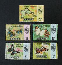 Ckstamps: Gb Stamps Collection Malaysia-Negri Sembilan Scott#86a-91a Mint Nh Og