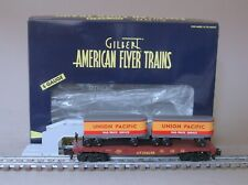 American Flyer 6-47983 Union Pacific Flatcar Piggyback Unloader (TOFC) by Lionel