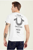 True Religion Men's Shoestring Horseshoe Logo Tee T-Shirt in White