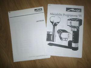 MECABLITZ 1991 PRICE LIST (PHOTO COPY)
