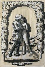 NOEL FEUERSTEIN (1904-1998) PROJET DE SCULPTURE  ART DECO VERS 1930 (162)