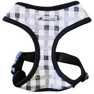 Dog Puppy Harness - Adjust Neck & Chest - iPuppyOne - Madison Flex - Black - L
