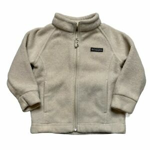 Columbia Benton Springs Fleece Jacket Off White Infant Girls 12-18 Months