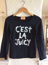 Juicy Couture C'est la Juicy Black Silver Sparkle Shirt Top size S