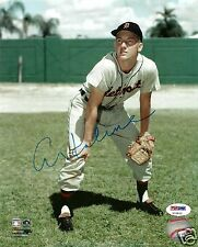 Al Kaline Signed Detroit Tigers 8x10 MLB Photo - COA - HOF 1980 - PSA - All Star